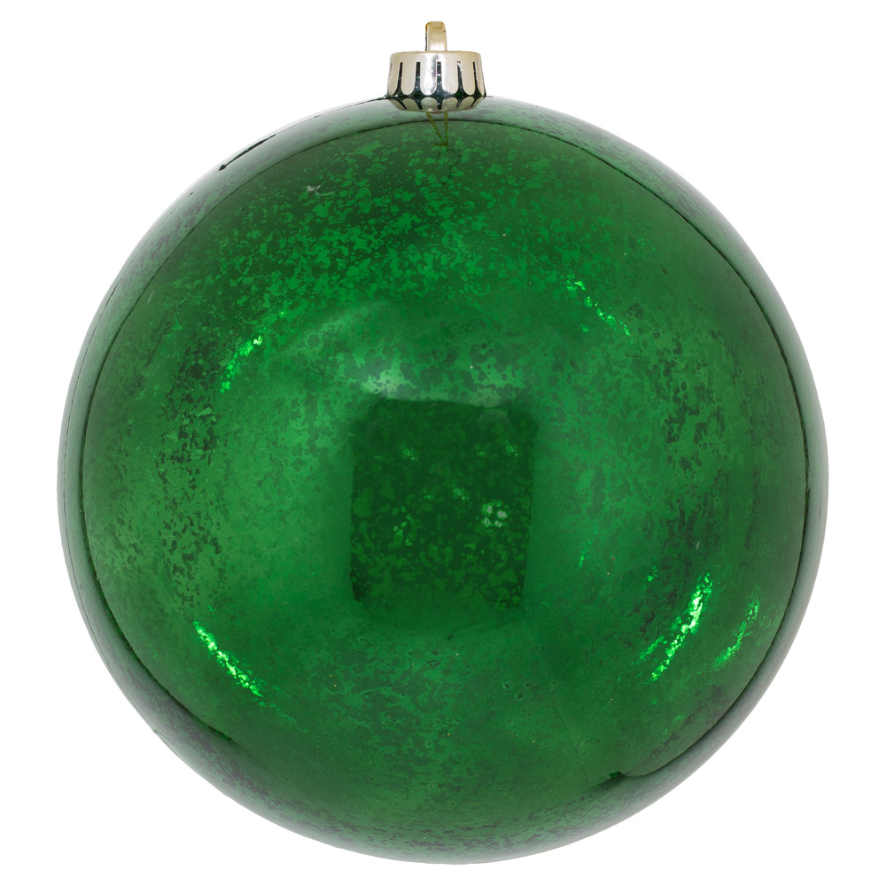 8 Inch Emerald Green Shiny Mercury Christmas Ball Ornament Shatterproof