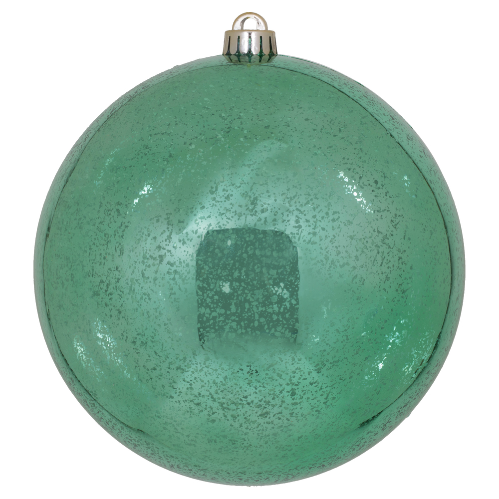 8 Inch Seafoam Green Shiny Mercury Christmas Ball Ornament Shatterproof