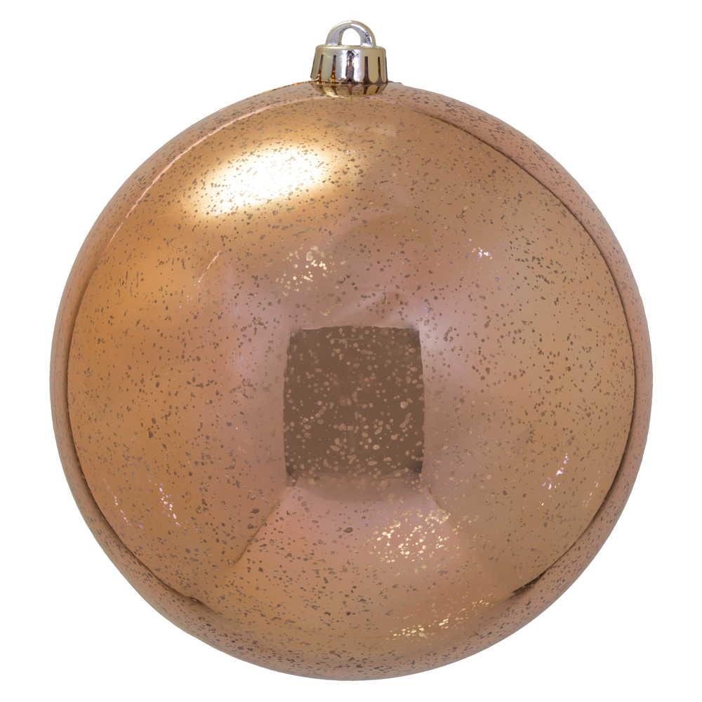 8 Inch Rose Gold Shiny Mercury Christmas Ball Ornament