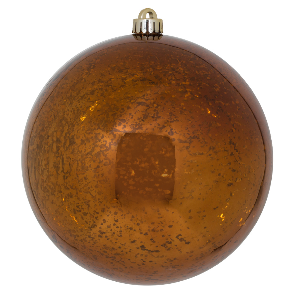 8 Inch Copper Shiny Mercury Christmas Ball Ornament Shatterproof