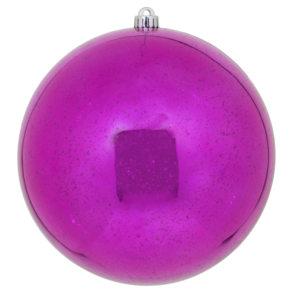 10 Inch Magenta Shiny Mercury Christmas Ball Ornament