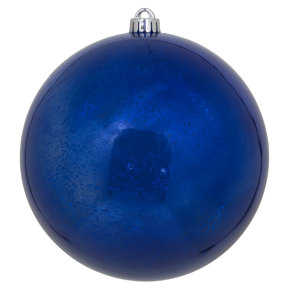 10 Inch Cobalt Shiny Mercury Christmas Ball Ornament