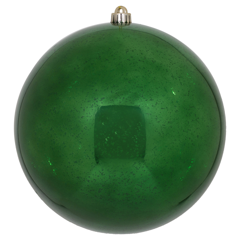 10 Inch Emerald Shiny Mercury Christmas Ball Ornament