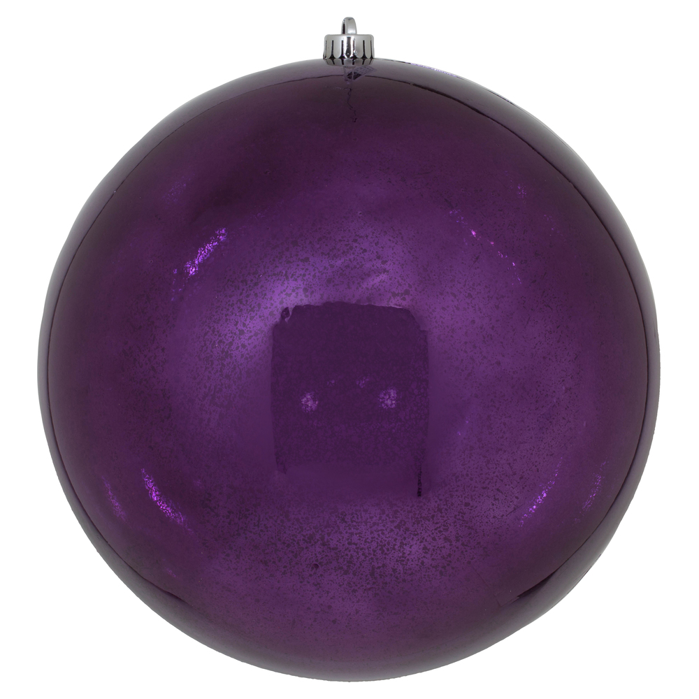 10 Inch Plum Shiny Mercury Christmas Ball Ornament