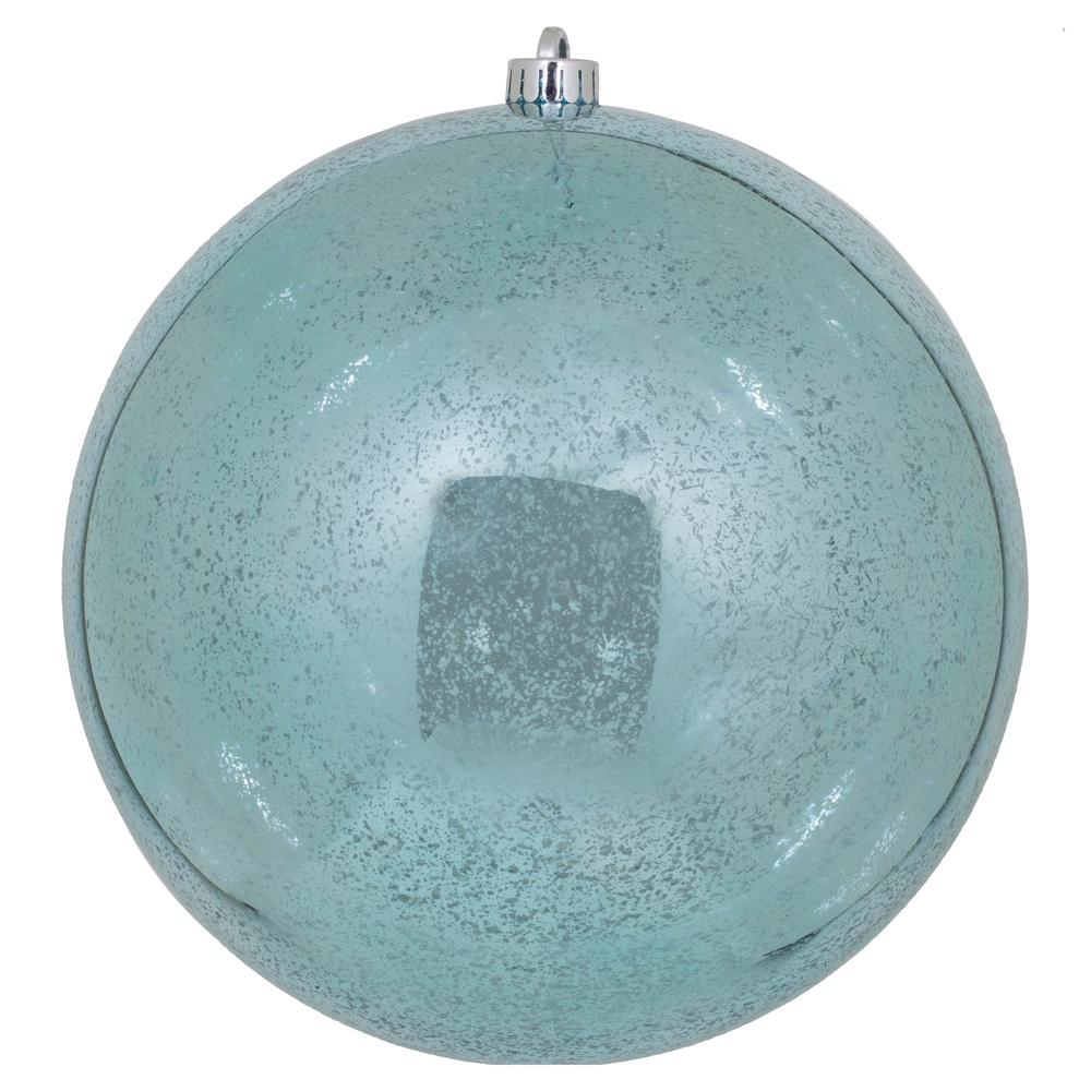 10 Inch Baby Blue Shiny Mercury Christmas Ball Ornament