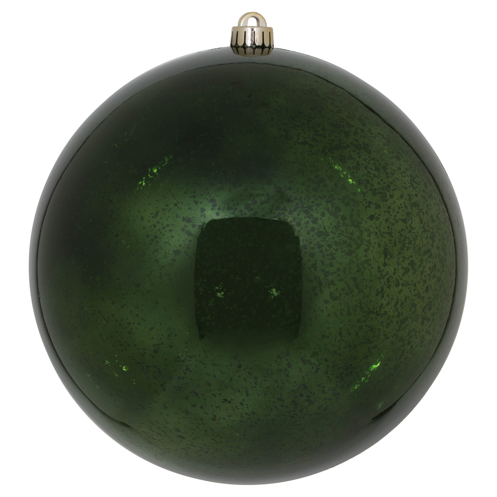 10 Inch Moss Green Shiny Mercury Christmas Ball Ornament