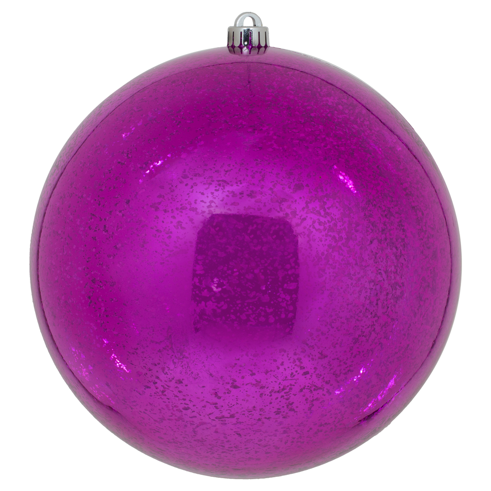 10 Inch Fuchsia Shiny Mercury Christmas Ball Ornament