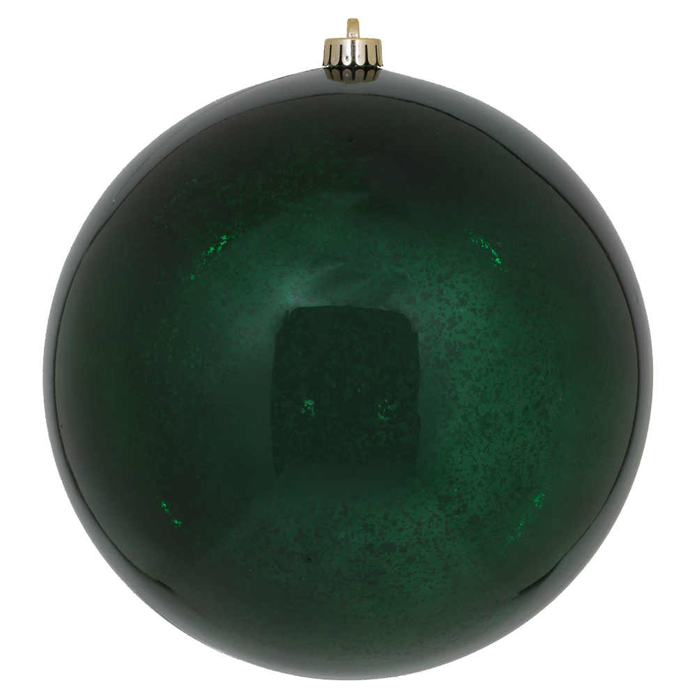 10 Inch Midnight Green Shiny Mercury Christmas Ball Ornament