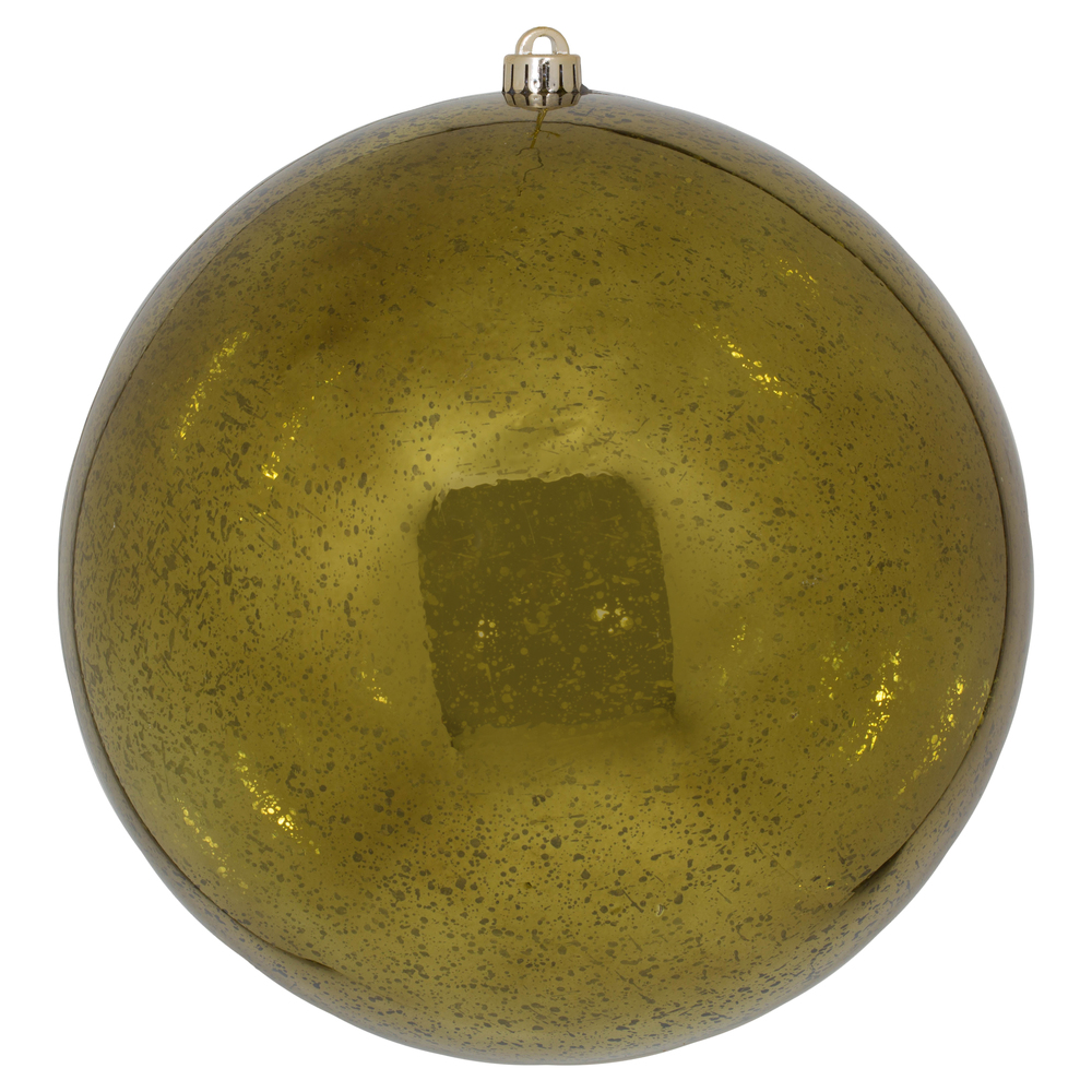 12 Inch Olive Green Shiny Mercury Christmas Ball Ornament