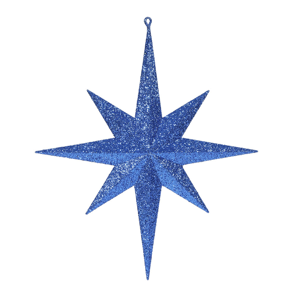 15.75 Inch Emerald Iridescent Glitter Bethlehem Star Christmas Ornament