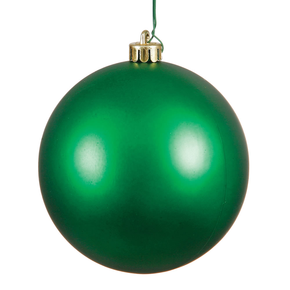 10 Inch Green Matte Artificial Christmas Ball Ornament - UV Drilled Cap