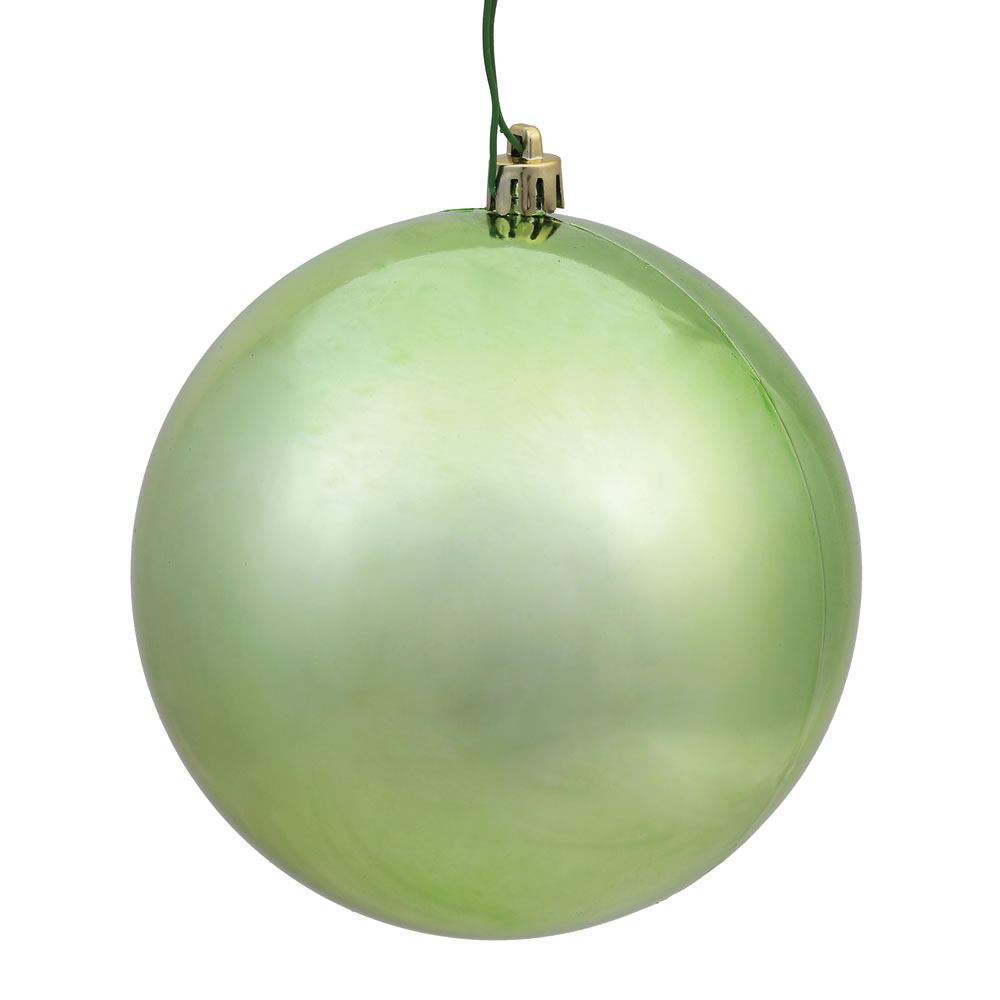 10 Inch Celadon Shiny Artificial Christmas Ball Ornament - UV Drilled Cap