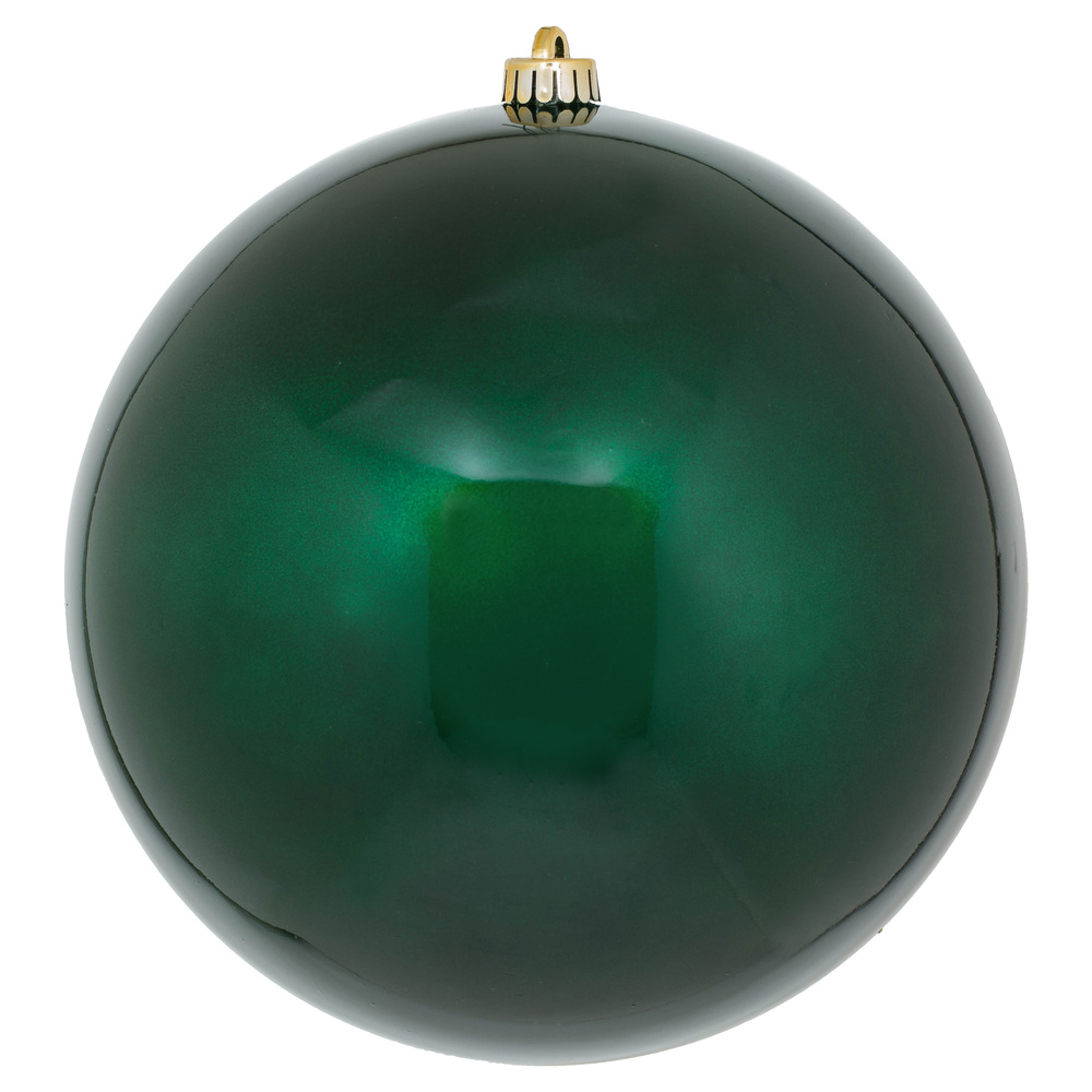 10 Inch Midnight Green Candy Artificial Christmas Ball - UV Drilled Cap