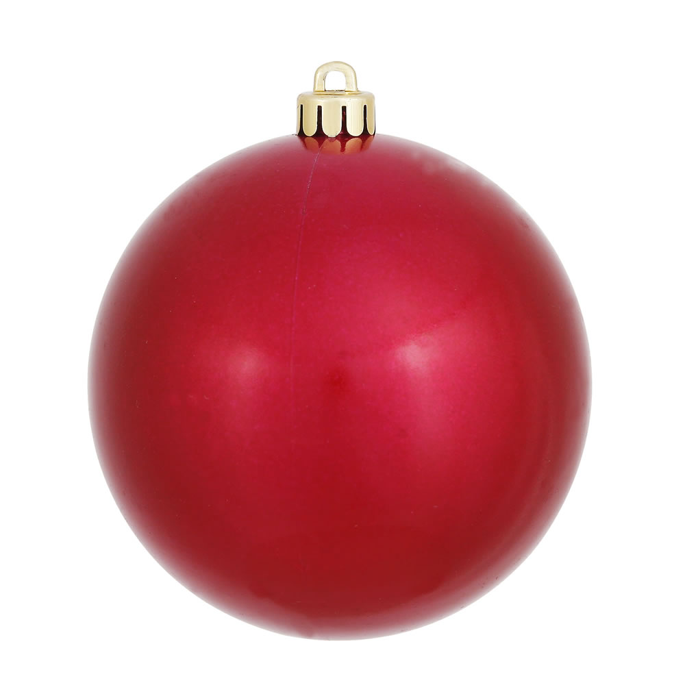 12 Inch Wine Candy Round Christmas Ball Ornament Shatterproof UV