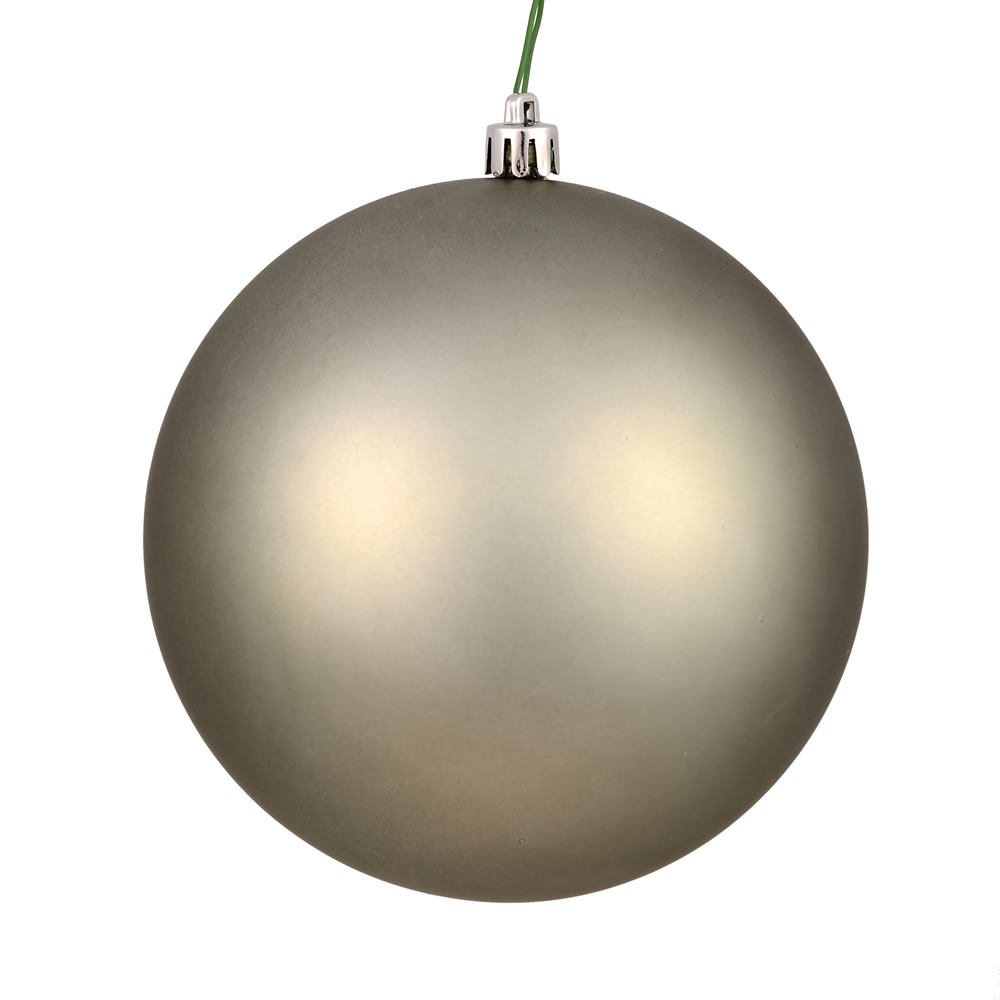 12 Inch Wrought Iron Matte Christmas Ball Ornament with UV Drilled Cap