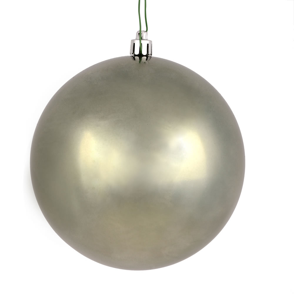 12 Inch Wrought Iron Shiny Christmas Ball Ornament with UV Drilled Cap