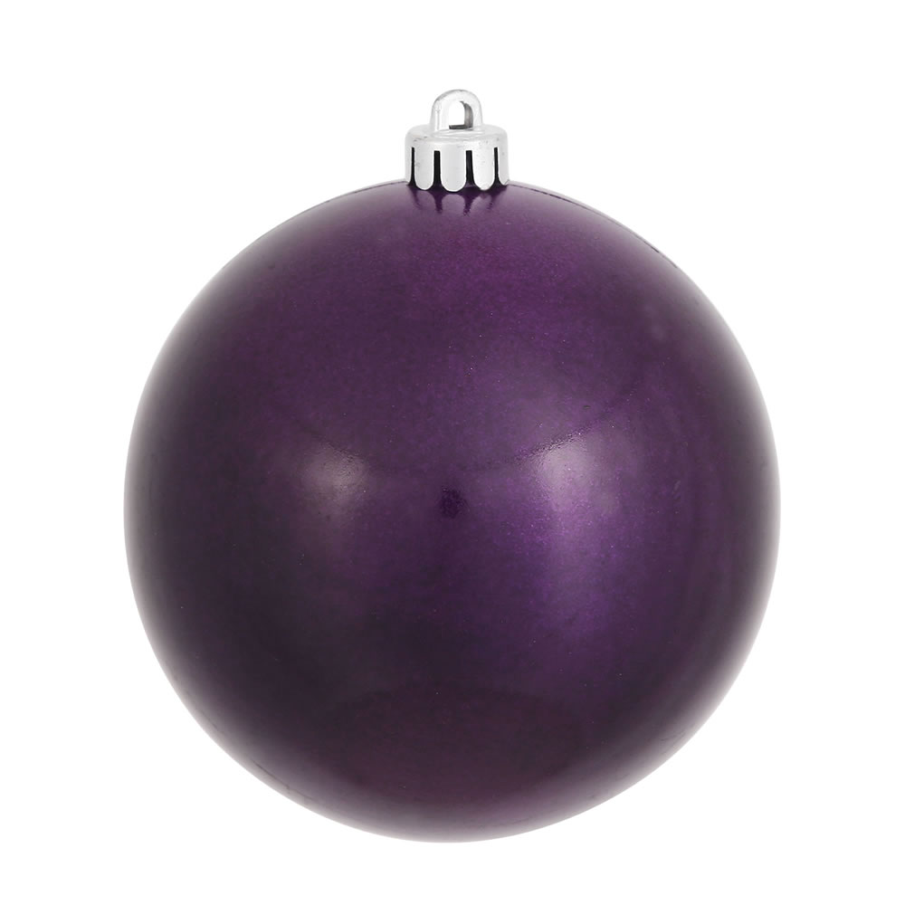 12 Inch Plum Candy Round Christmas Ball Ornament Shatterproof UV