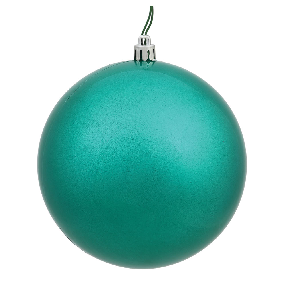 12 Inch Teal Candy Round Christmas Ball Ornament Shatterproof UV
