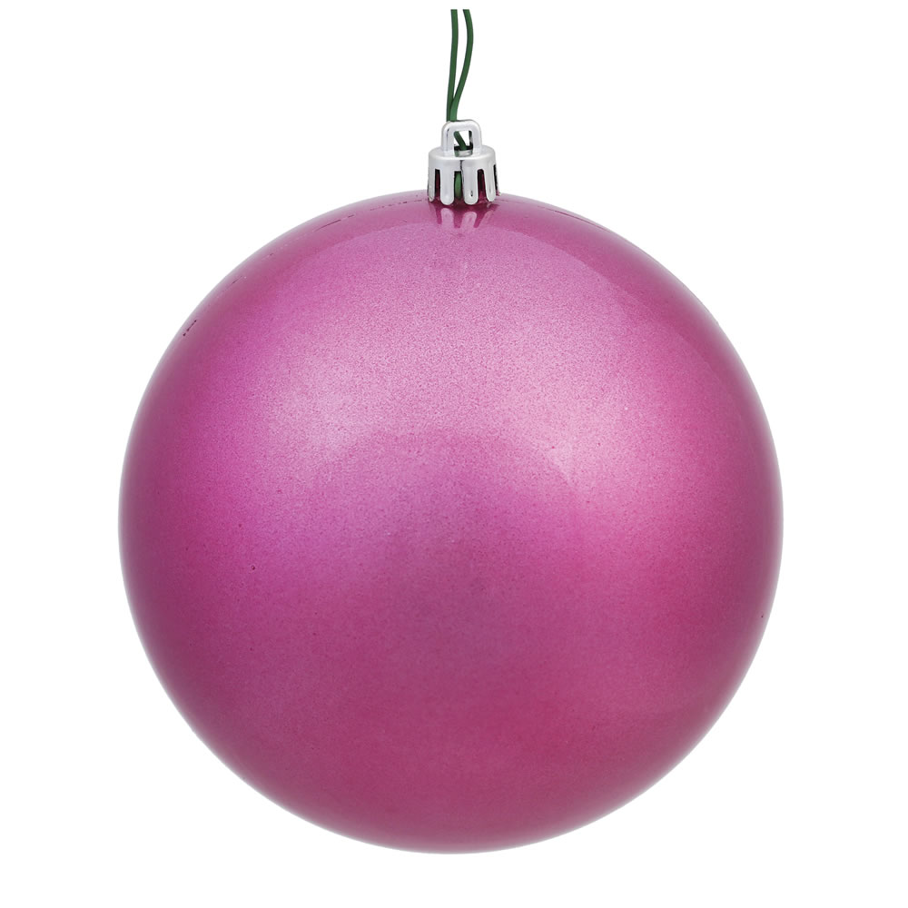12 Inch Mauve Candy Round Christmas Ball Ornament Shatterproof UV