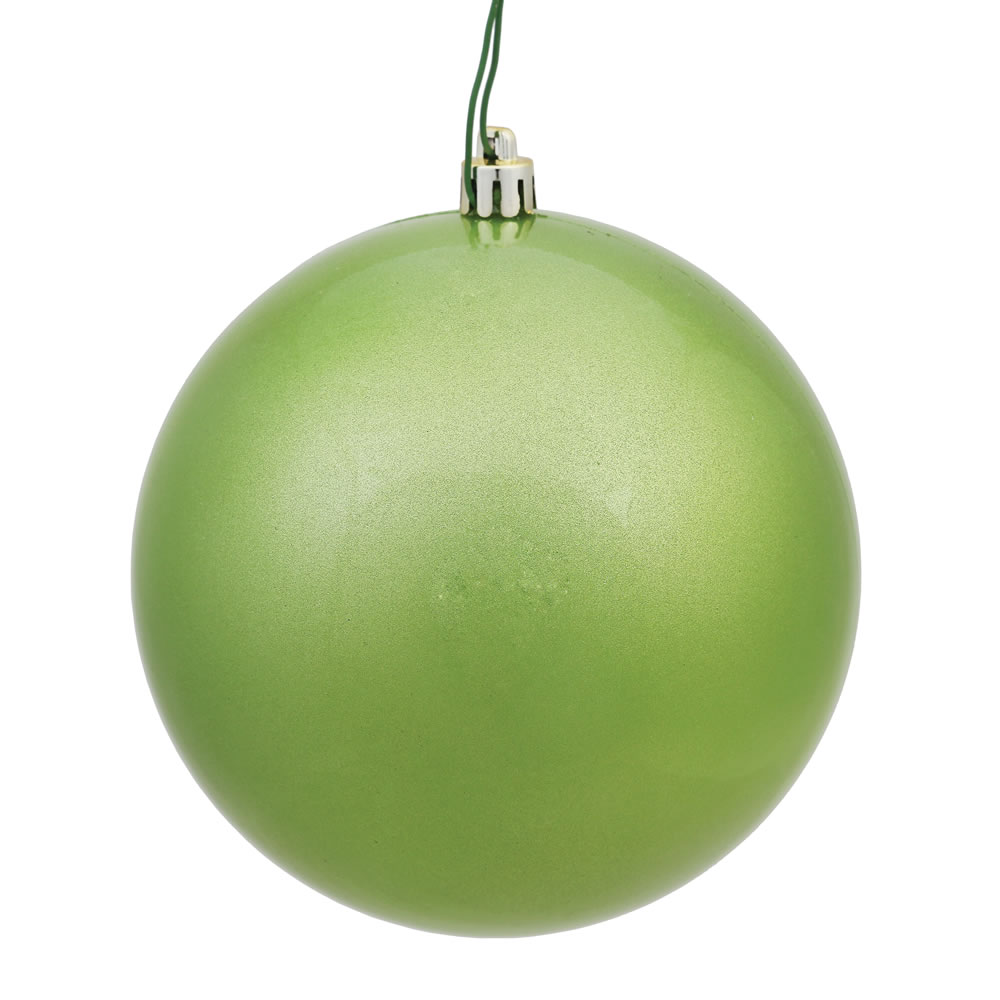 12 Inch Celadon Green Candy Round Christmas Ball Ornament Shatterproof UV
