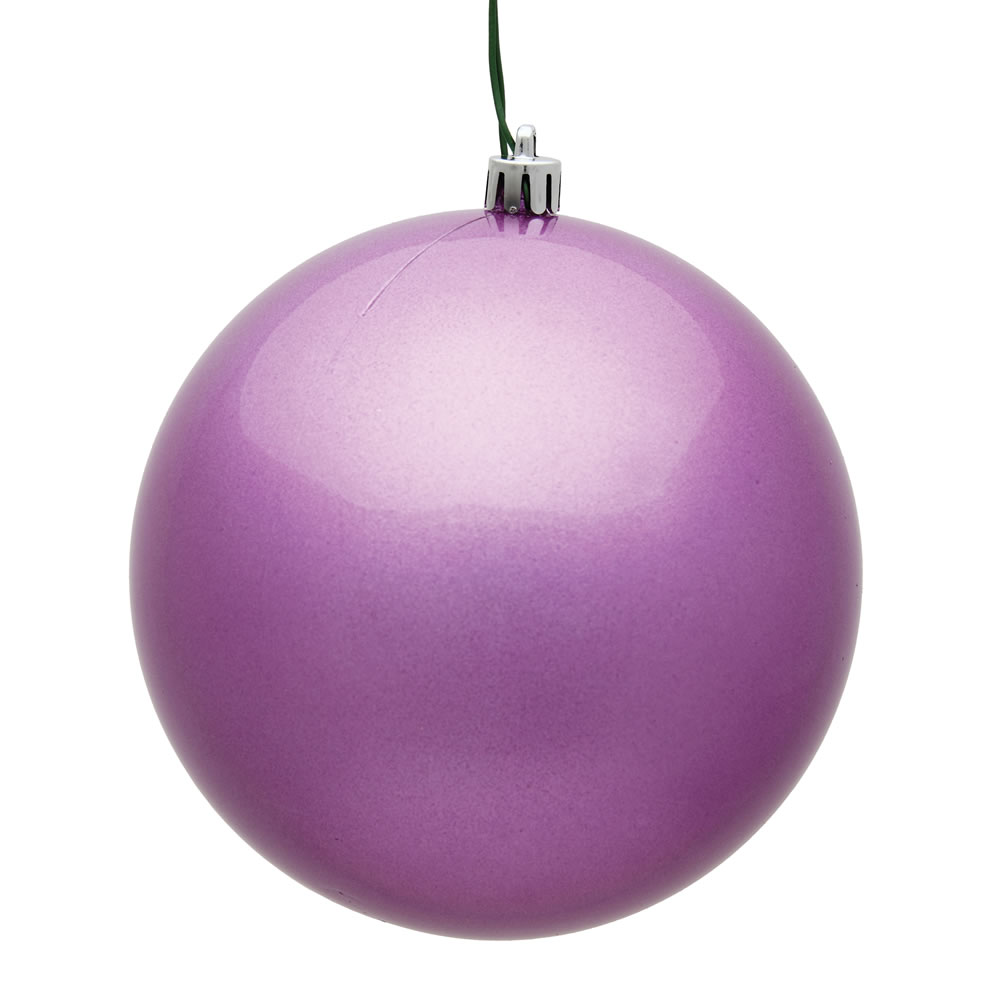 12 Inch Orchid Candy Round Christmas Ball Ornament Shatterproof UV