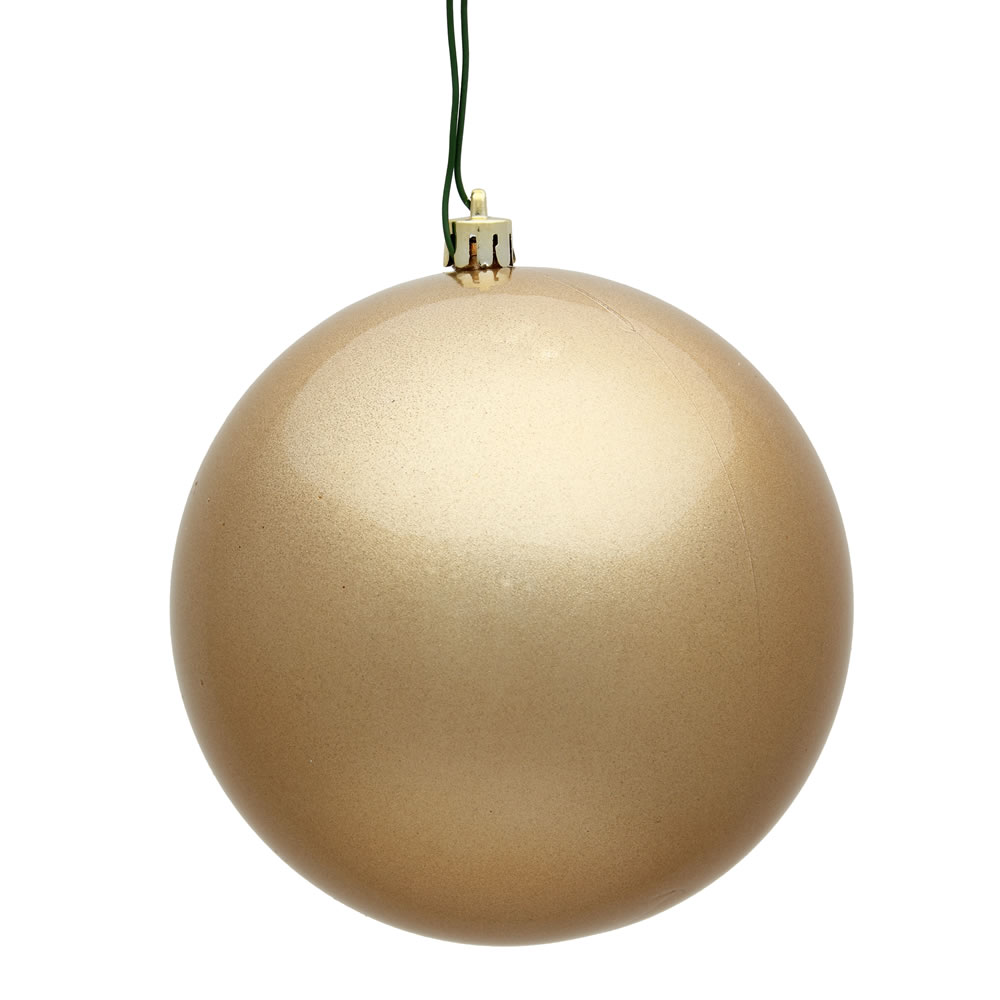 12 Inch Cafe Latte Candy Round Christmas Ball Ornament Shatterproof UV