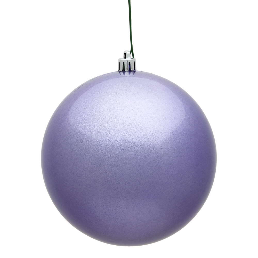 12 Inch Lavender Candy Round Christmas Ball Ornament Shatterproof UV