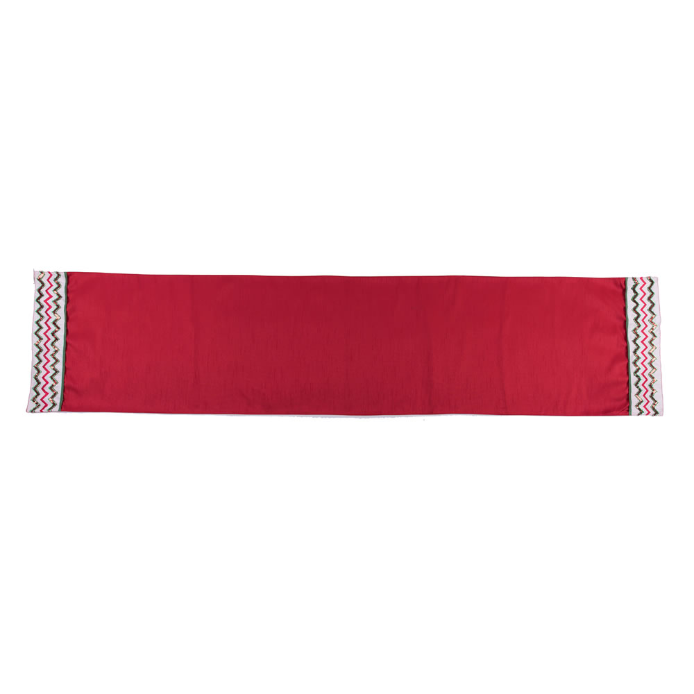 Red Sequin Chevron Decorative Christmas Table Runner