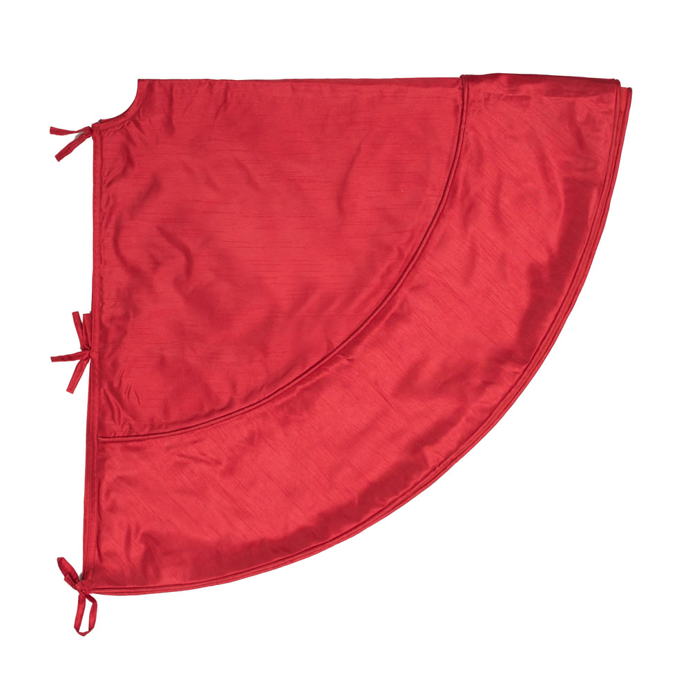 4.5 Foot Red Colorway Decorative Christmas Tree Skirt