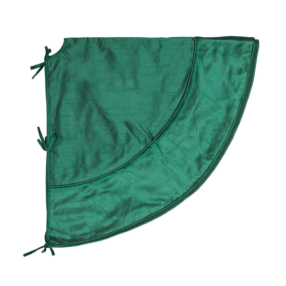 4.5 Foot Green Colorway Decorative Christmas Tree Skirt