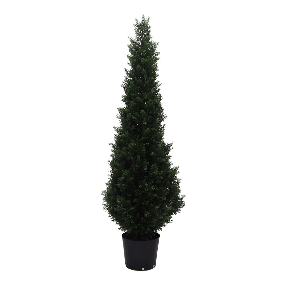 5 Foot Green Cedar Artificial Potted Christmas Tree Unlit