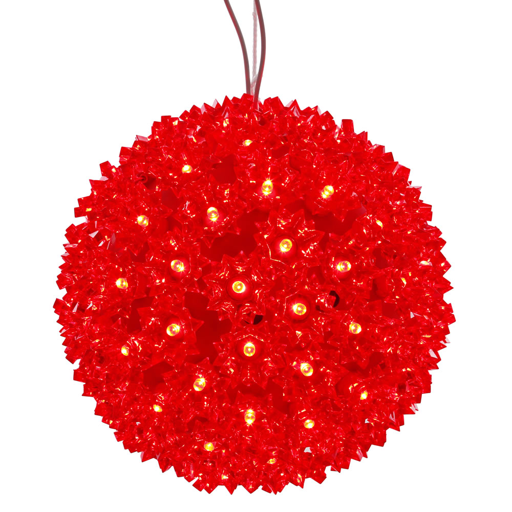 150 LED Red Starlight Christmas Light Sphere Lead Wire