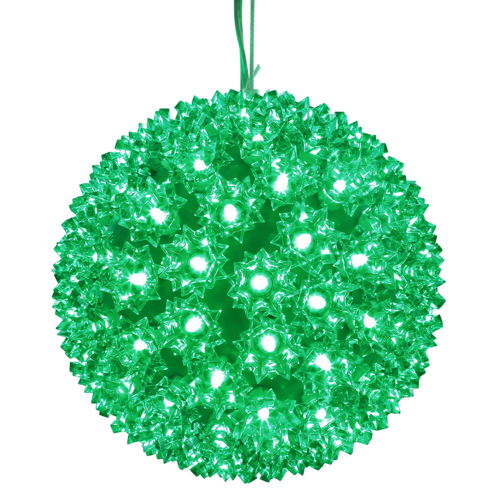 150 LED Green Starlight Christmas Light Sphere Lead Wire