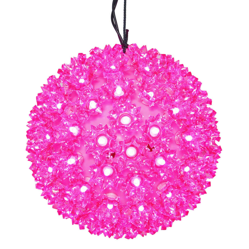 150 LED Pink Starlight Christmas Light Sphere Lead Wire