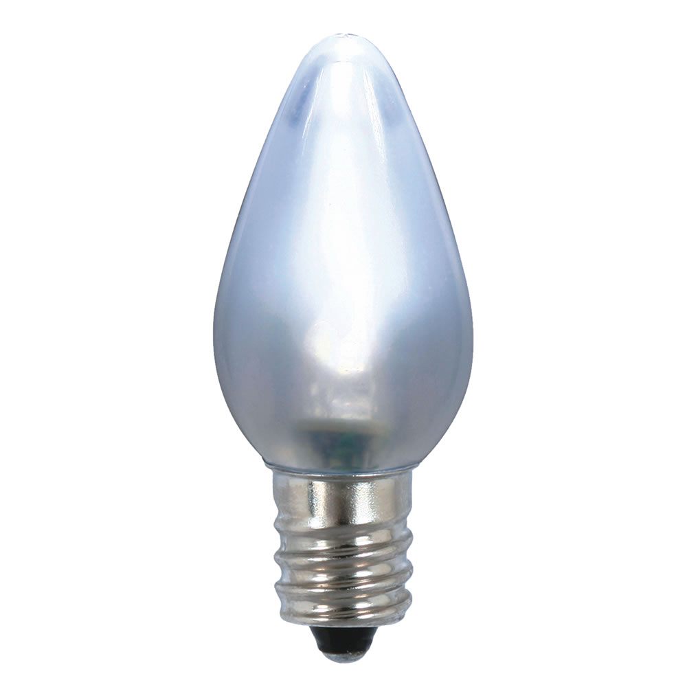 25 LED C7 Cool White Ceramic Retrofit Christmas Night Light Replacement Bulbs