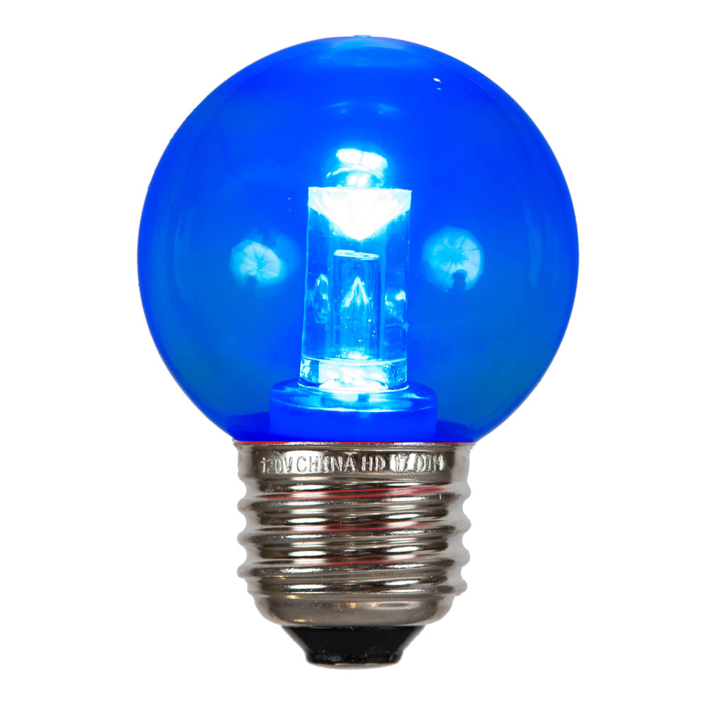 10 G50 Blue LED E26 Socket Christmas Light Tube Replacement Bulb