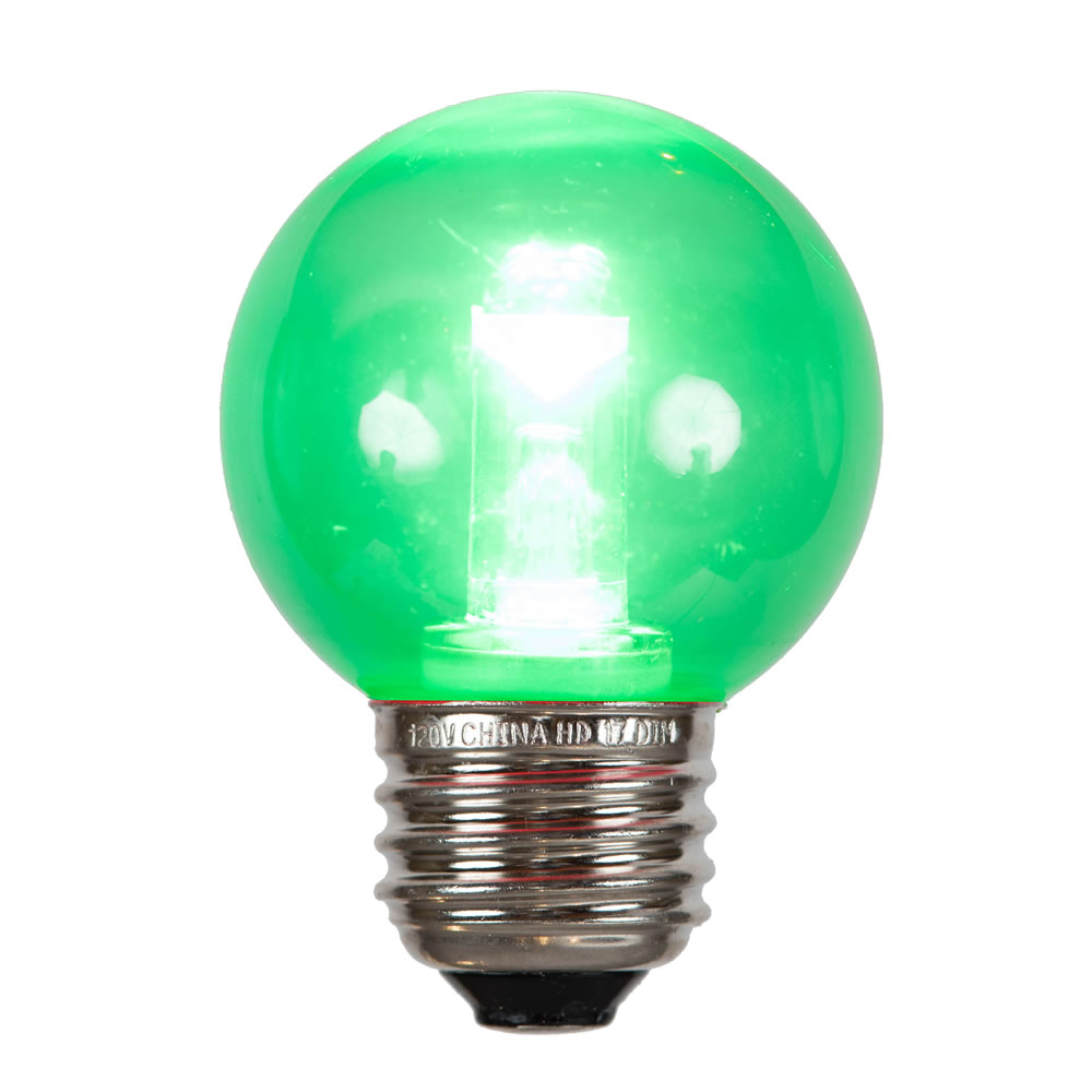 G50 Green Tube LED E26 Bulb