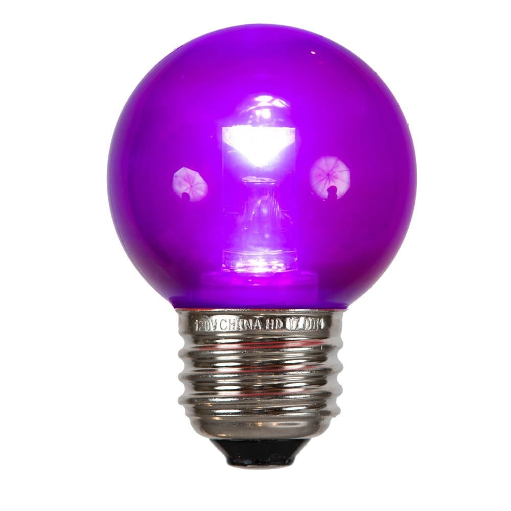 G50 Purple Tube LED E26 Bulb
