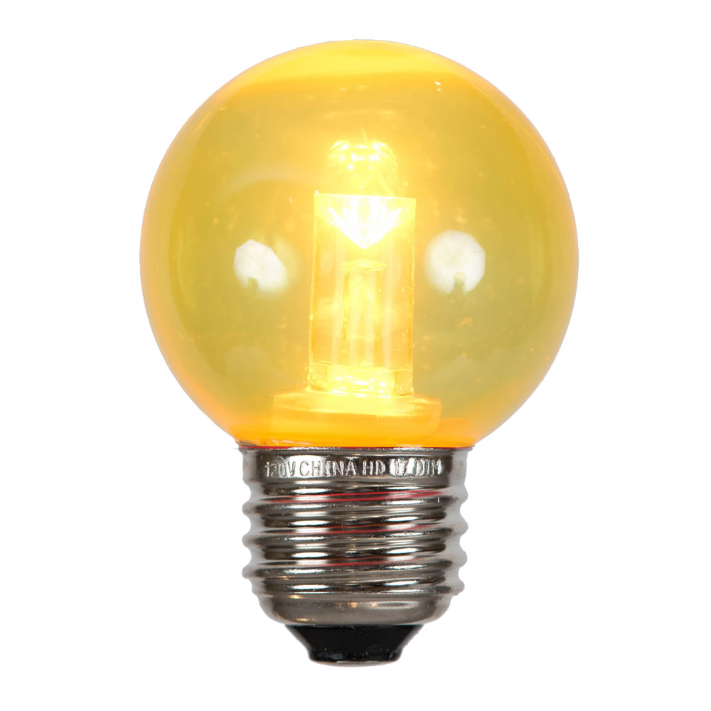 G50 Yellow Tube LED E26 Bulb