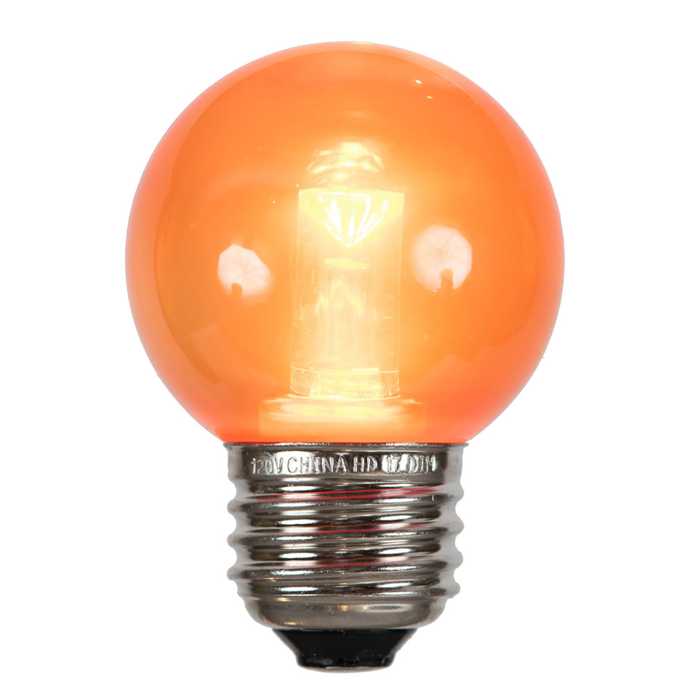 G50 Orange Tube LED E26 Bulb