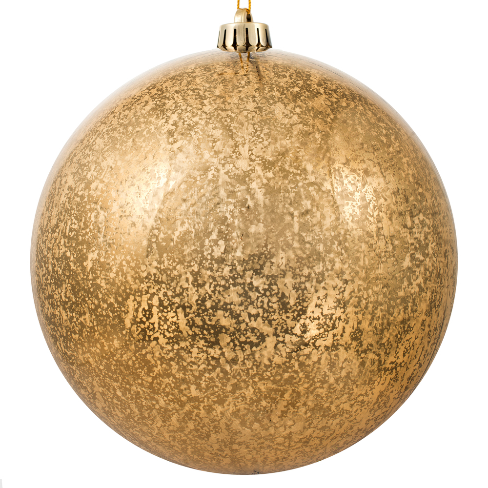8 Inch Mocha Shiny Mercury Christmas Ball Ornament Shatterproof