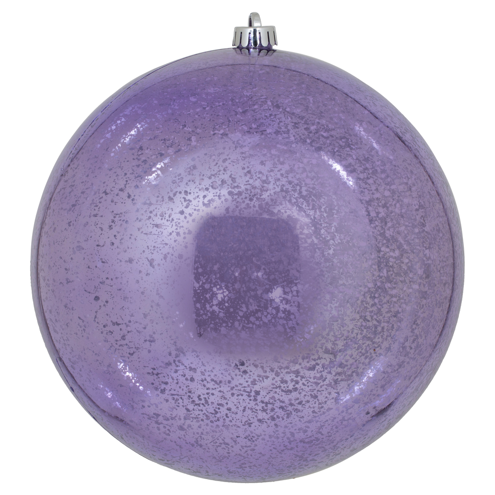 8 Inch Lavender Shiny Mercury Round Christmas Ball Ornament Shatterproof