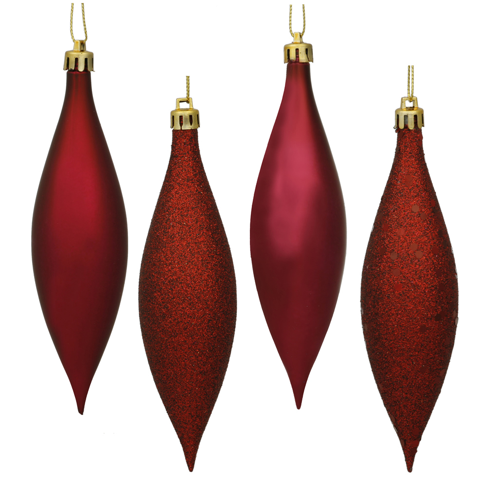 5.5 Inch Berry Red Drop 4 Finish Asst 8 Bx