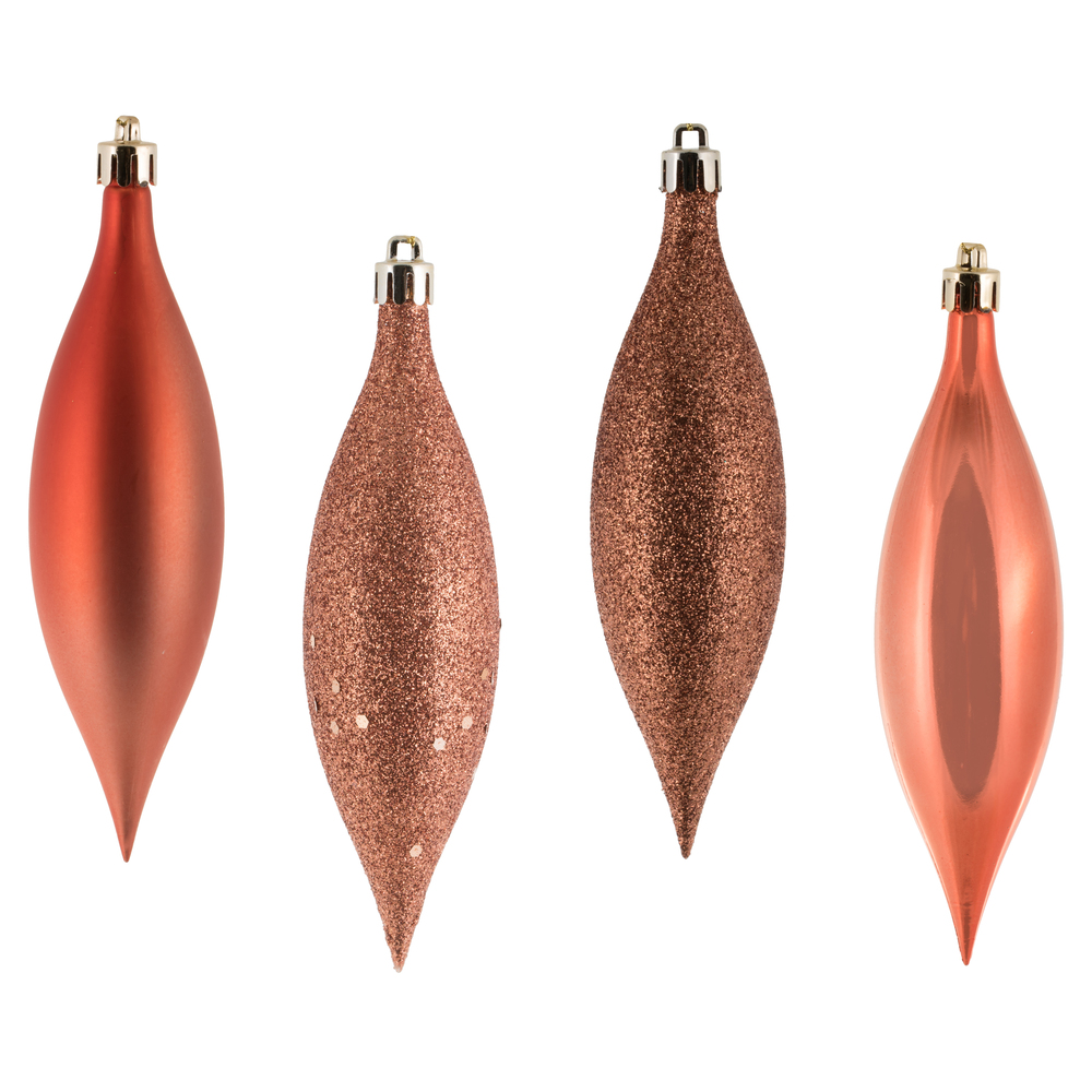 5.5 Inch Coral Drop Christmas Ornament Assorted Finishes 8 per Set