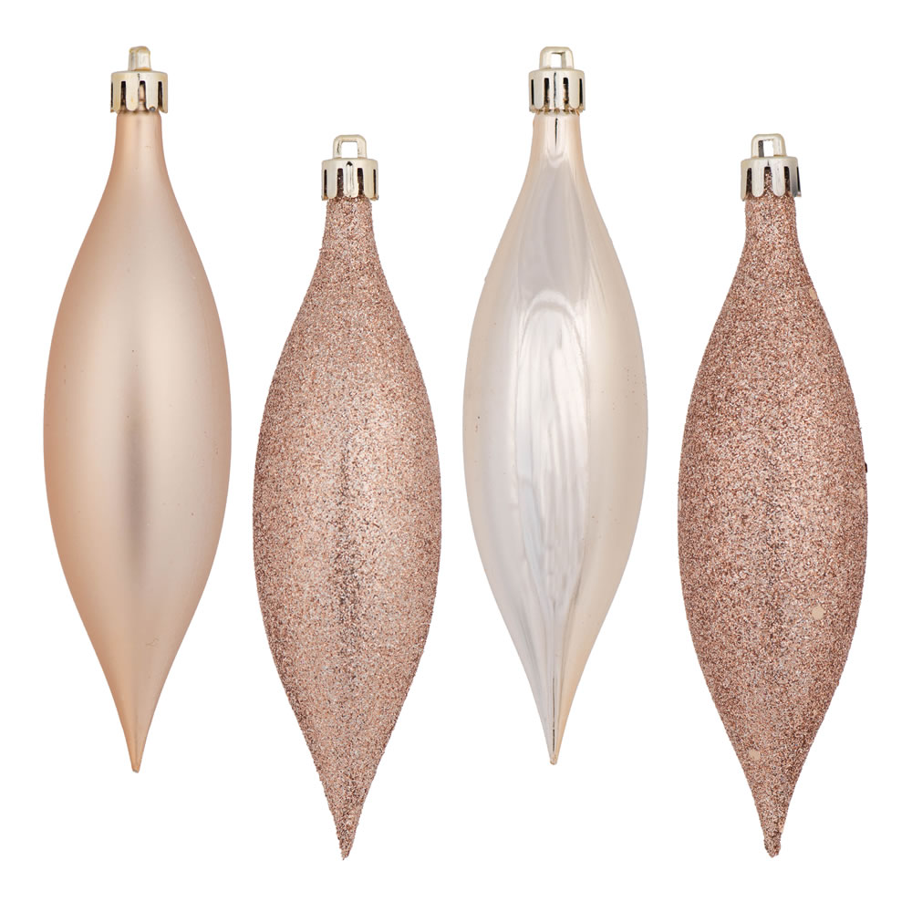 5.5 Inch Cafe Latte Drop Christmas Ornament Assorted Finishes 8 per Set