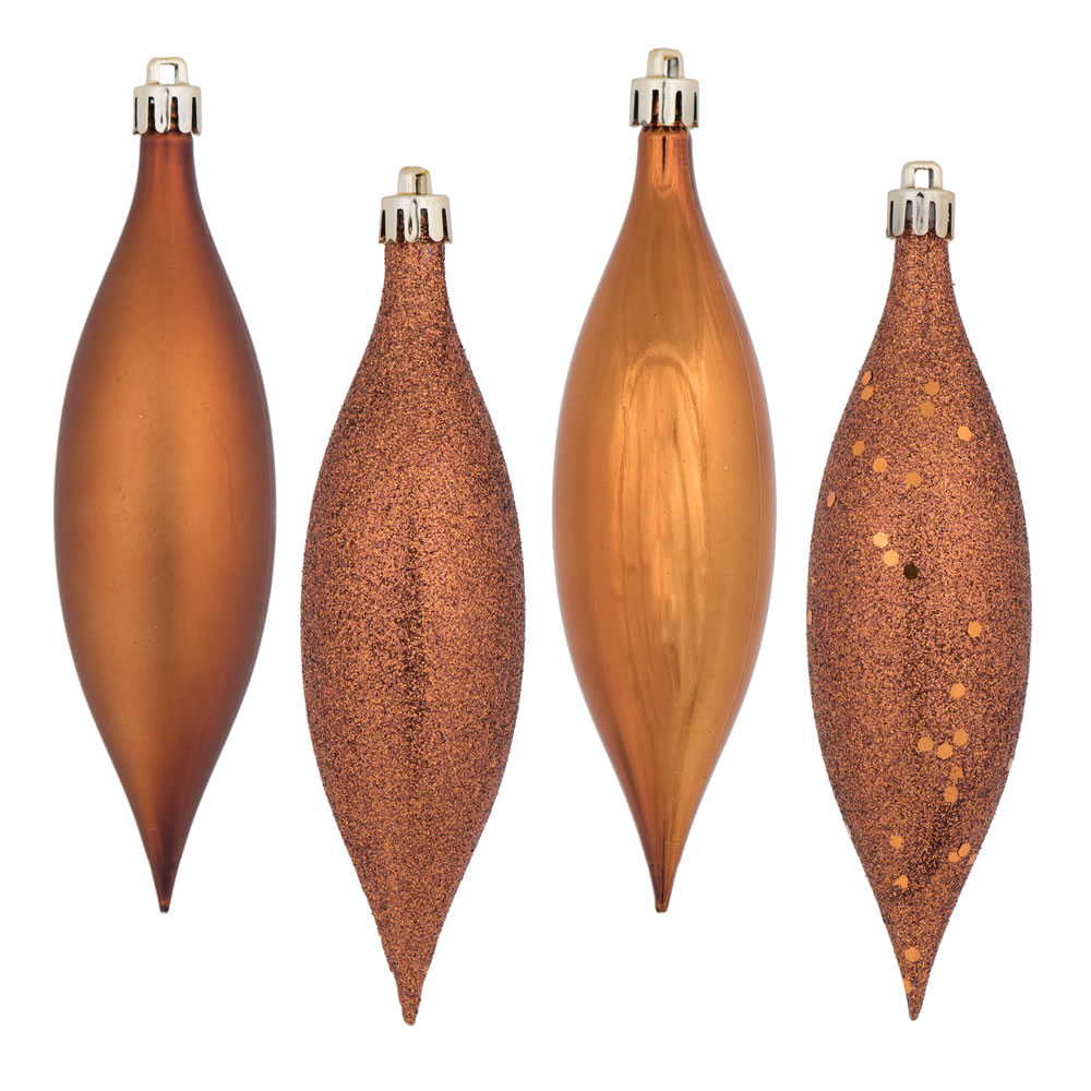 5.5 Inch Copper Drop Christmas Ornament Assorted Finishes