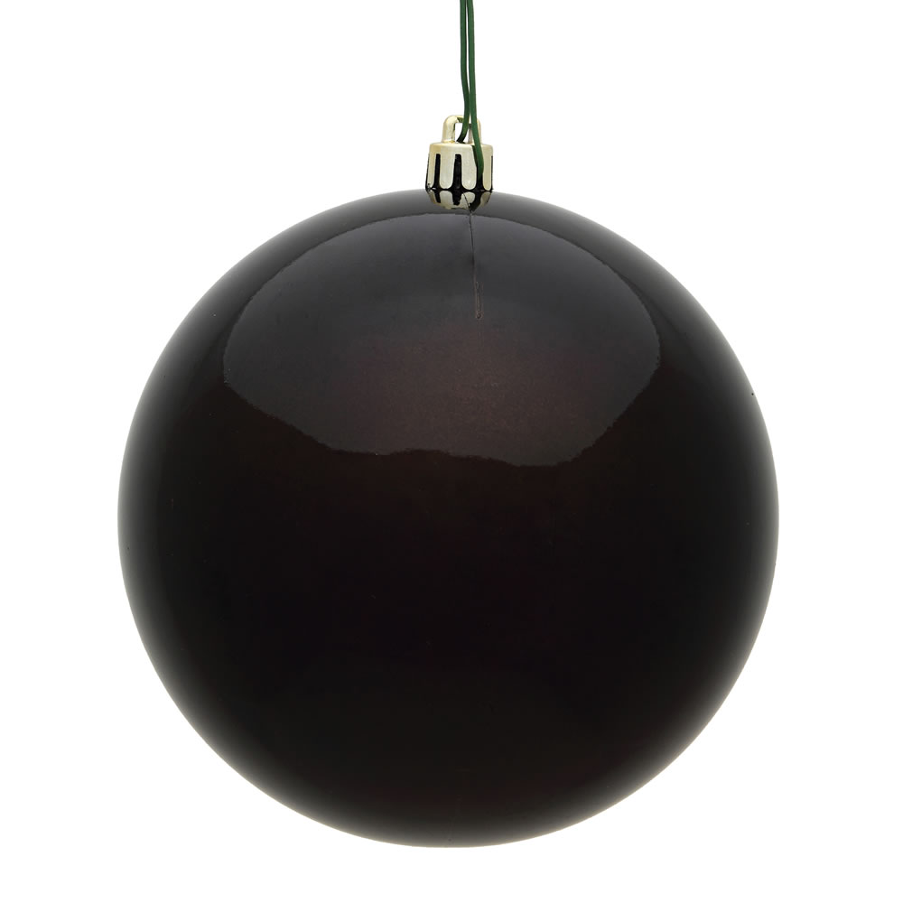 10 Inch Chocolate Candy Artificial Christmas Ball Ornament - UV Drilled Cap