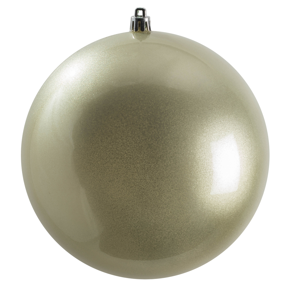 12 Inch Limestone Candy Christmas Ball Ornament with UV Drilled Cap