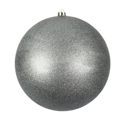 12 Inch Limestone Glitter Christmas Ball Ornament with Drilled Cap