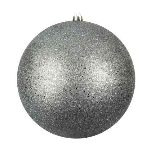 12 Inch Limestone Sequin Christmas Ball Ornament with Drilled Cap